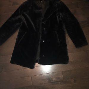 Black faux fur Coat.